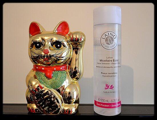 L'eau micellaire Laino, pour peaux sensibles
