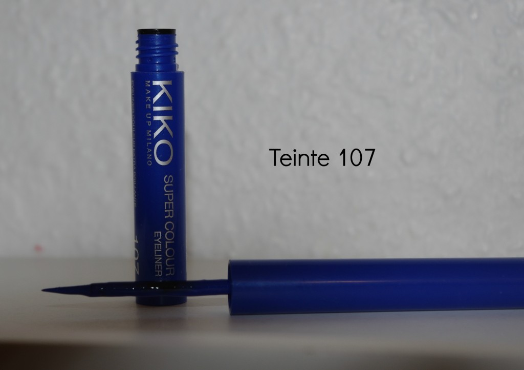 eyeliner bleu kiko